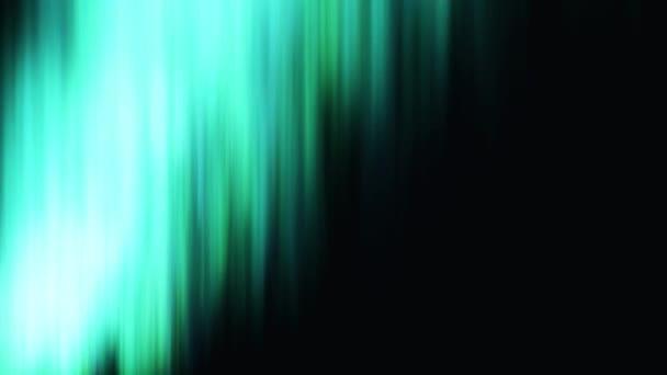 Északi fények a fekete háttér absztrakt animáció. Absztrakt északi fény csillog és pislákol a színes árnyalat