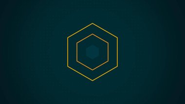 Abstract Hexagon Geometric Surface Loop, Appearing and disappearing multi-colored hexagon. Abstract high tech geometric motion background with hexagons. Seamless looping.