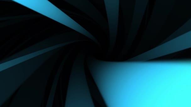 Abstraktní pozadí animace rotujícího světlé šroubovice s širokou modrou kroucení řádky. Abstraktní vířící barevné nálevka, bezešvé smyčka
