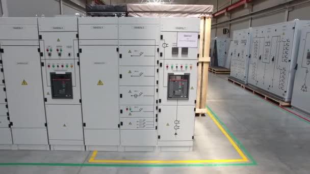 Daten Center Raum Servernetzwerk. Szene. Server-Nahaufnahme
