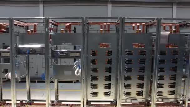 Datová centra server pokoj síť. Scénu. Servery detail