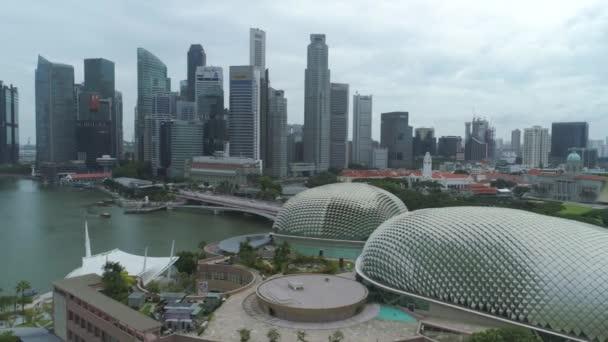 SINGAPORE - JUNE 15, 2018: Singapore New city buildings Skyscrapers Aerial. Shot. Singapore aerial cityscape view