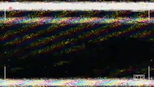 Statikus zaj villódzó elszakadt Tv-képernyő. Kamera felvétel képernyő-val alfa-csatornát a loop mód. TV zaj háttér