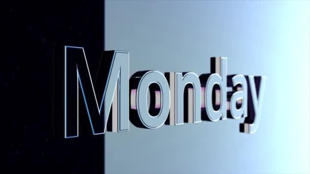 Monday Title. Word Monday animation. Animated Movie Text - Monday