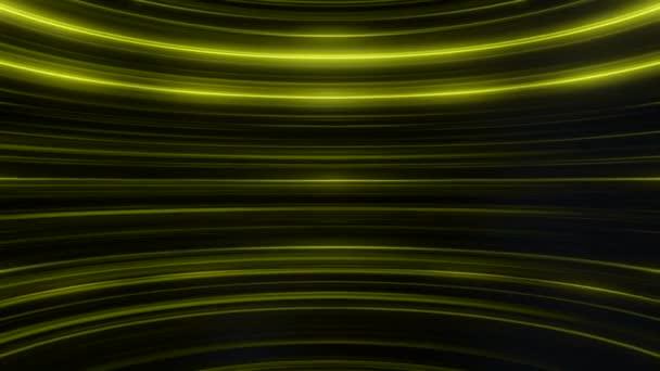 Abstraktní animace barevné třpytivé a zakřivené Žluté čáry. Abstraktní pozadí