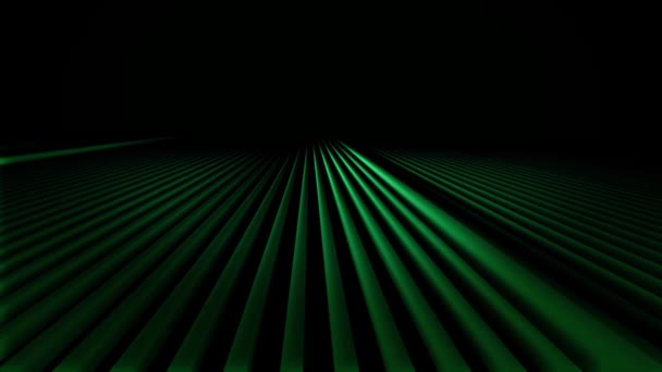 Abstract colorful gradient animation on a blackbackground. Motion of green geometric patterns, which flow like a wave.