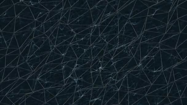 Krásné geometrické pozadí abstraktní s přesunutím, propojených trojúhelníky a zářící linky. Plexus abstraktní pozadí zářících čar