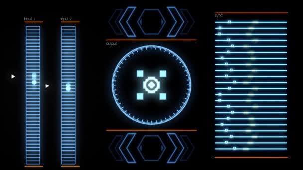 Beschreibungen Systemausfall erscheinen auf dem Computerbildschirm wegen eines Programmfehlers. Animation. Flackernde Videosignalstörung und digitale Panne.