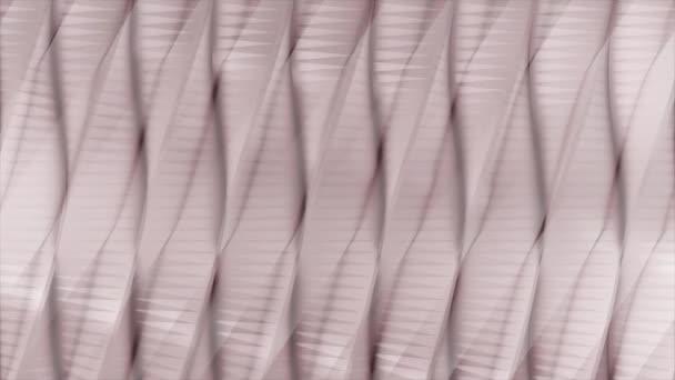Hullámos animáció világos rózsaszín színű, zökkenőmentes hurok. Animáció. Lágy, szép ívelt vonalak áramlási, digitális hullámok mozgását.