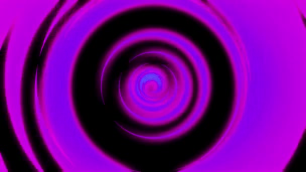 Abstraktní animace světelného neonové tunelové propojení tvořená barevným pohyblivými kroužky na černém pozadí. Animace. Barevná abstrakce neonové kružnice otáčející se odlišnou rychlostí.
