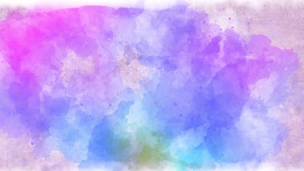 abstrakte bunte verschwommene Hintergrundmalerei mit Farben. Animation. Leinwand mit unsichtbarem Pinsel, der Farbstriche verwischt und Hintergrund erzeugt