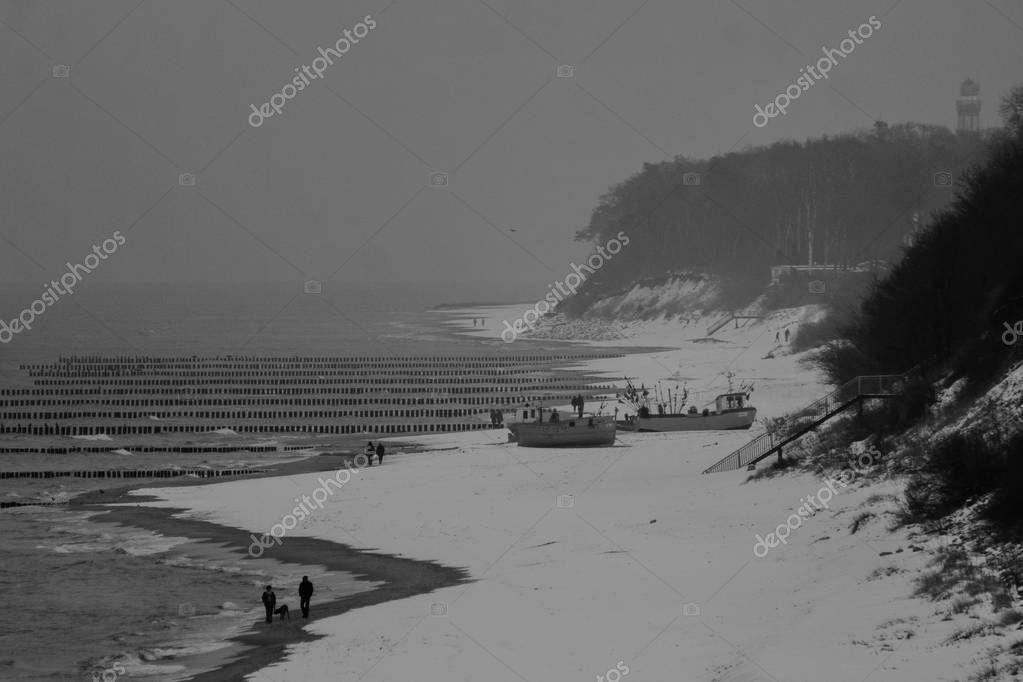 Beach on the sea coast.