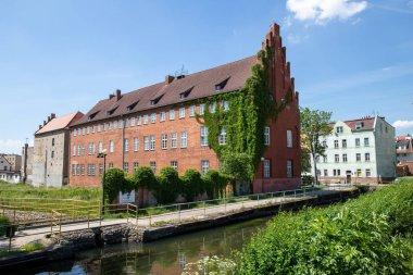 Lebork, Pomeranian Voivodeship / Poland - June 6, 2019: Old hist