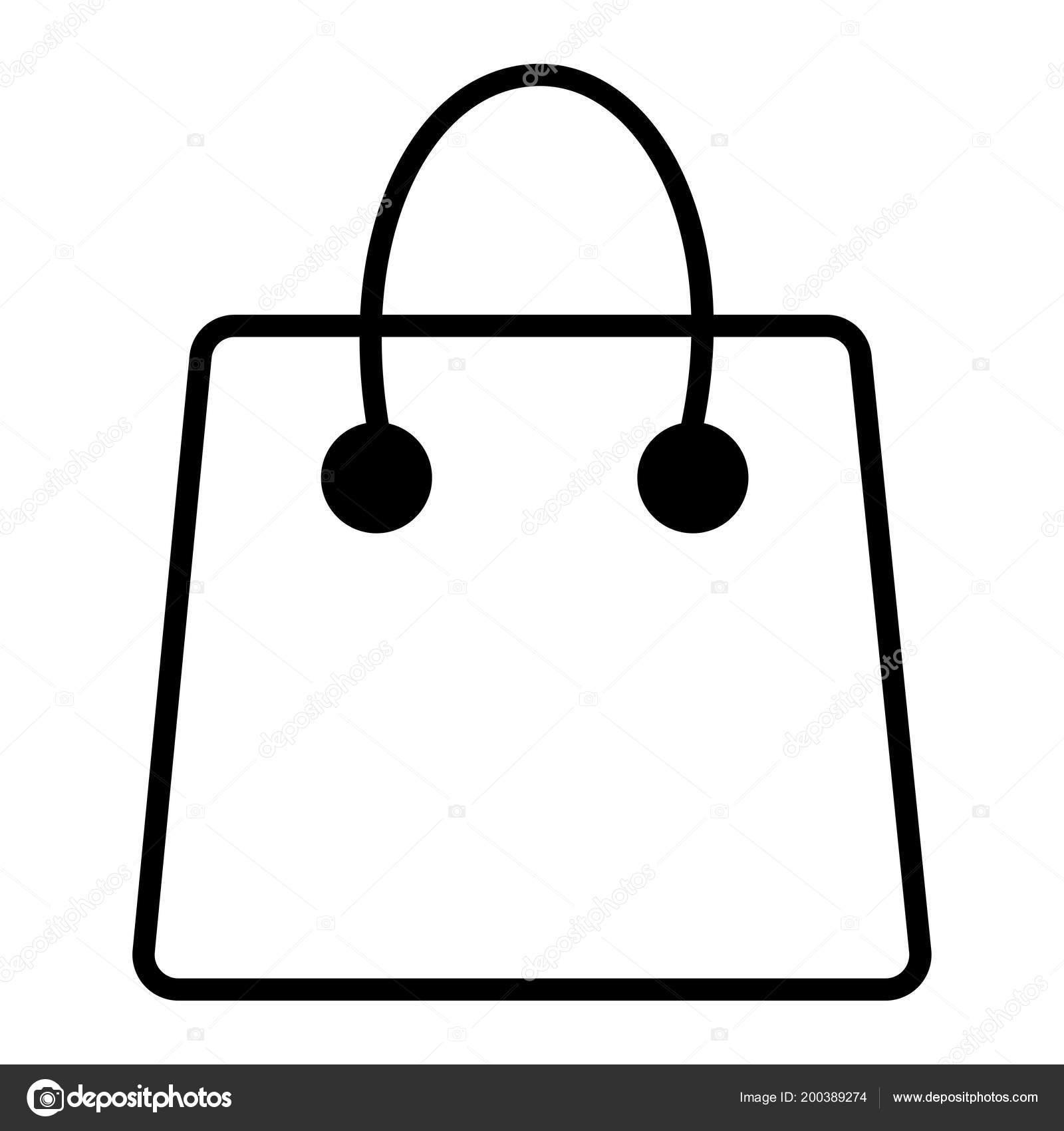 — Vector Bolsa Stock Línea Icono Eps Simple De b6fgIv7yYm