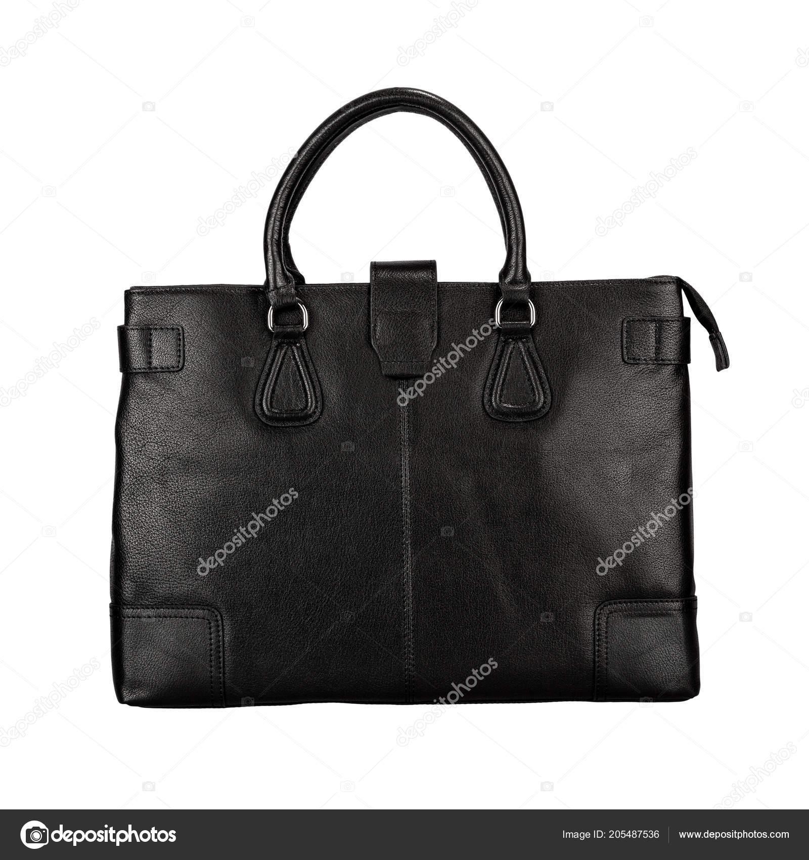 500ed254a1e09 Schwarze Tasche Aus Mattem Leder Mit Glitzer Isoliert Auf Weißem ...