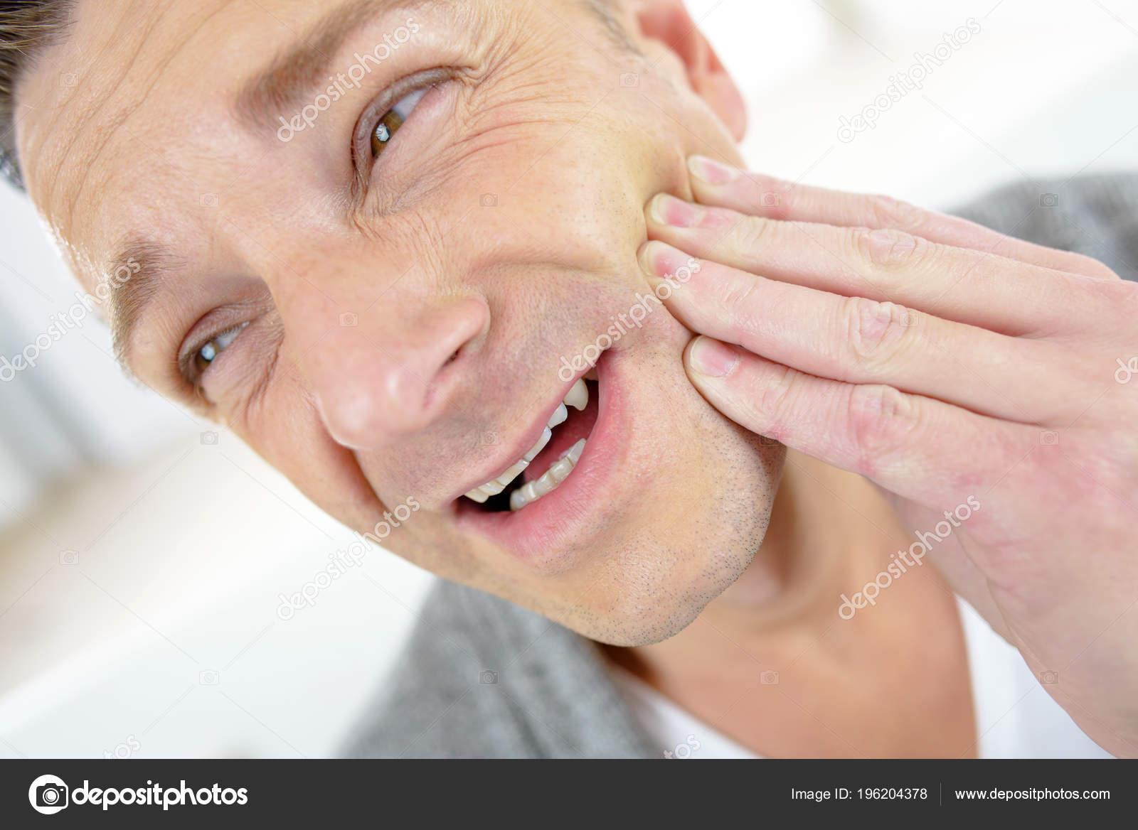 Homme En Dépression Avec Douleur De Dent Photographie