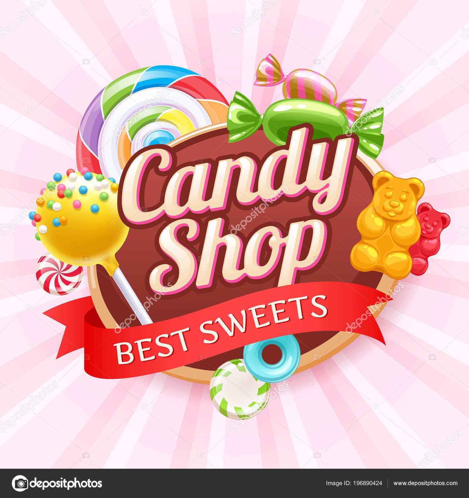 Caramelos y dulces colores de fondo — Archivo Imágenes Vectoriales ...