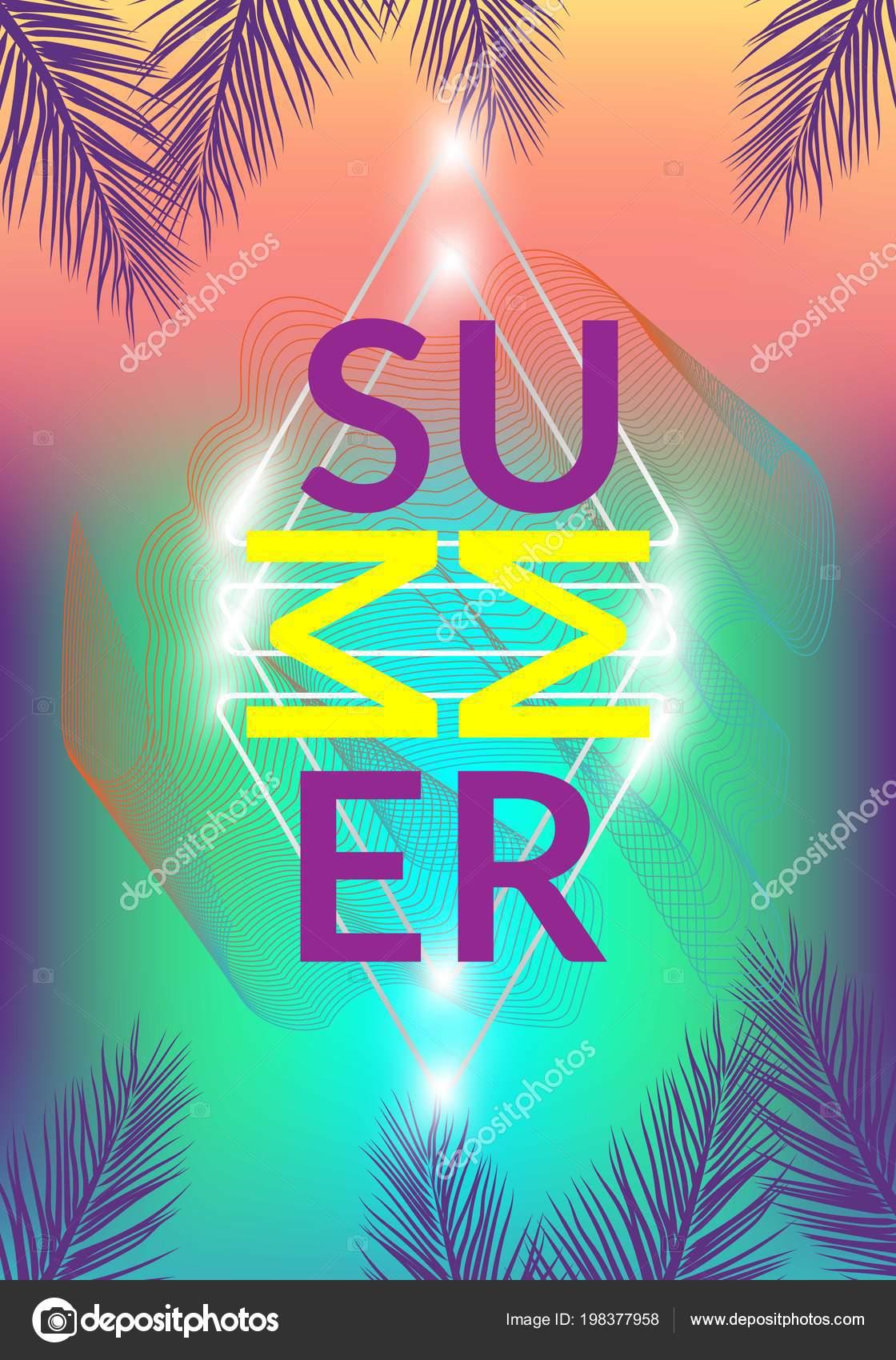 Sommer Kalifornien Tumblr Hintergrunde Set Mit Palmen Himmel Und