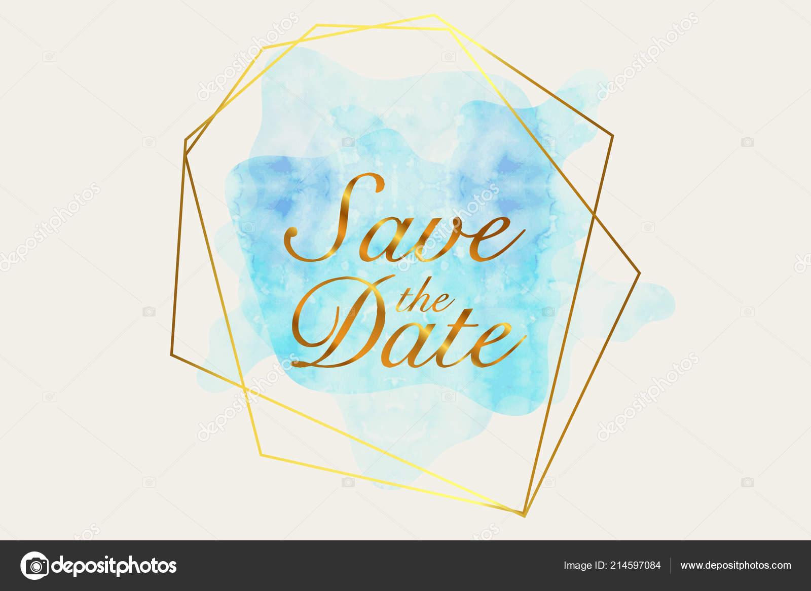 Date Invitation Card Modern Design Template Elements Modern