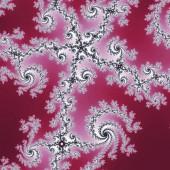Red swirly fractal pattern, digital artwork for creative graphic design