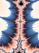 Light colorful fractal mandelbrot pattern, digital artwork for creative graphic design
