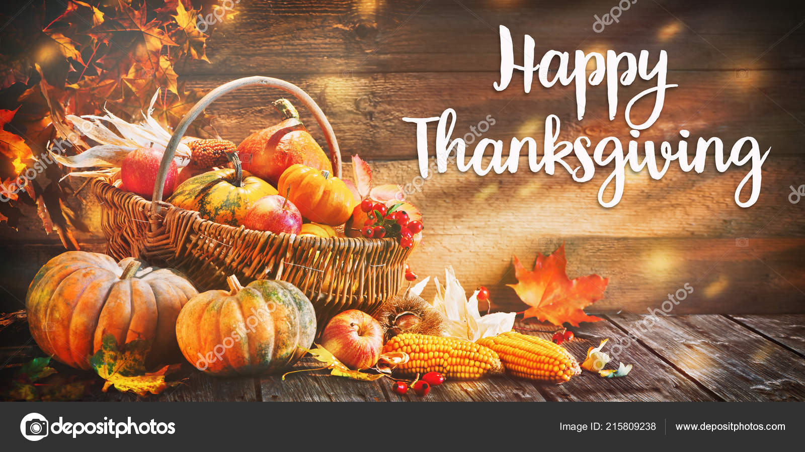 Images: happy thanksgiving pumpkins | Happy Thanksgiving Pumpkins Fruits  Falling Leaves Rustic Wooden Table — Stock Photo © alexraths #215809238