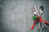 Karácsonyi vacsora asztal teríték