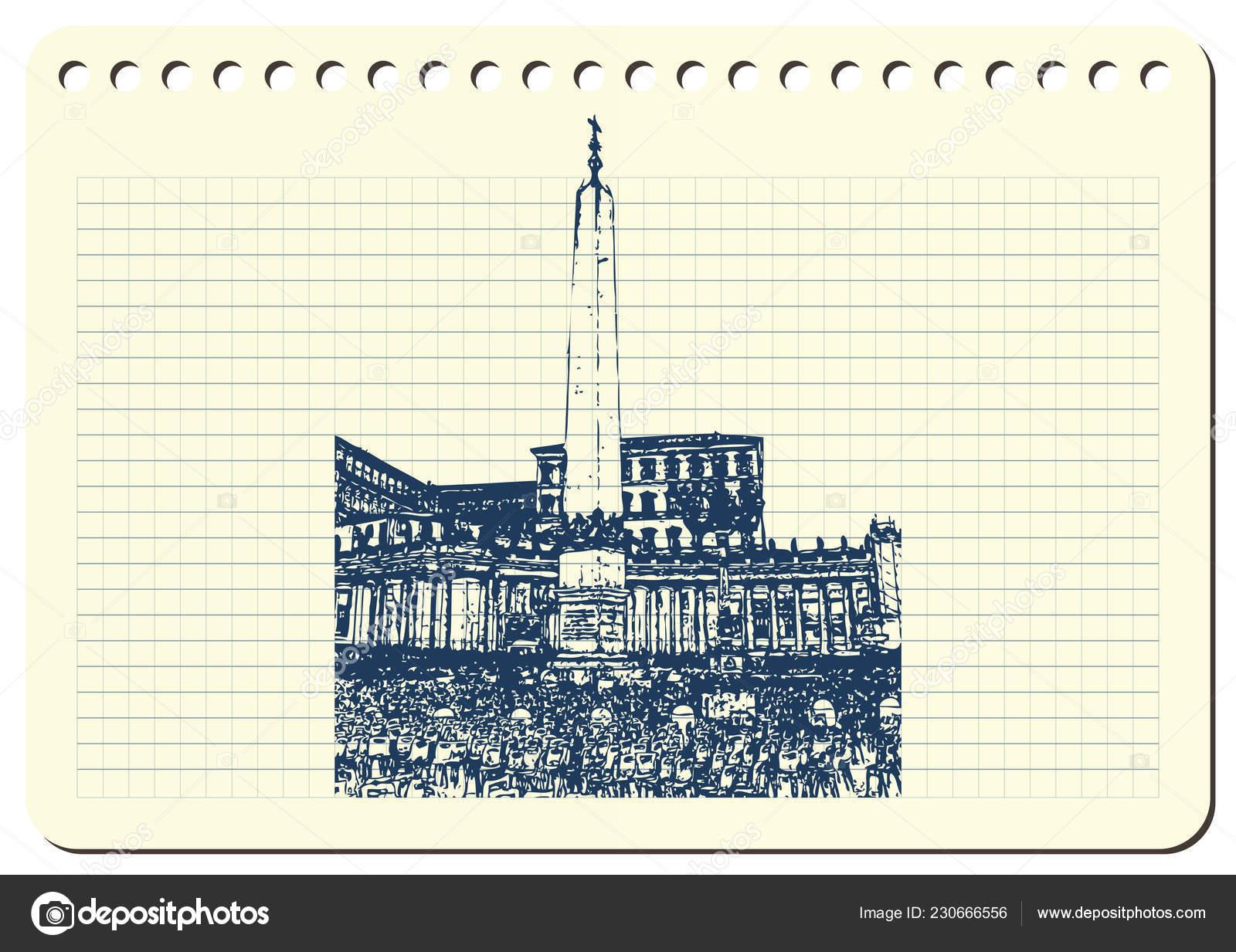 Skizze Von Rom Geeignet Für Einladung Flyer Aufkleber Poster