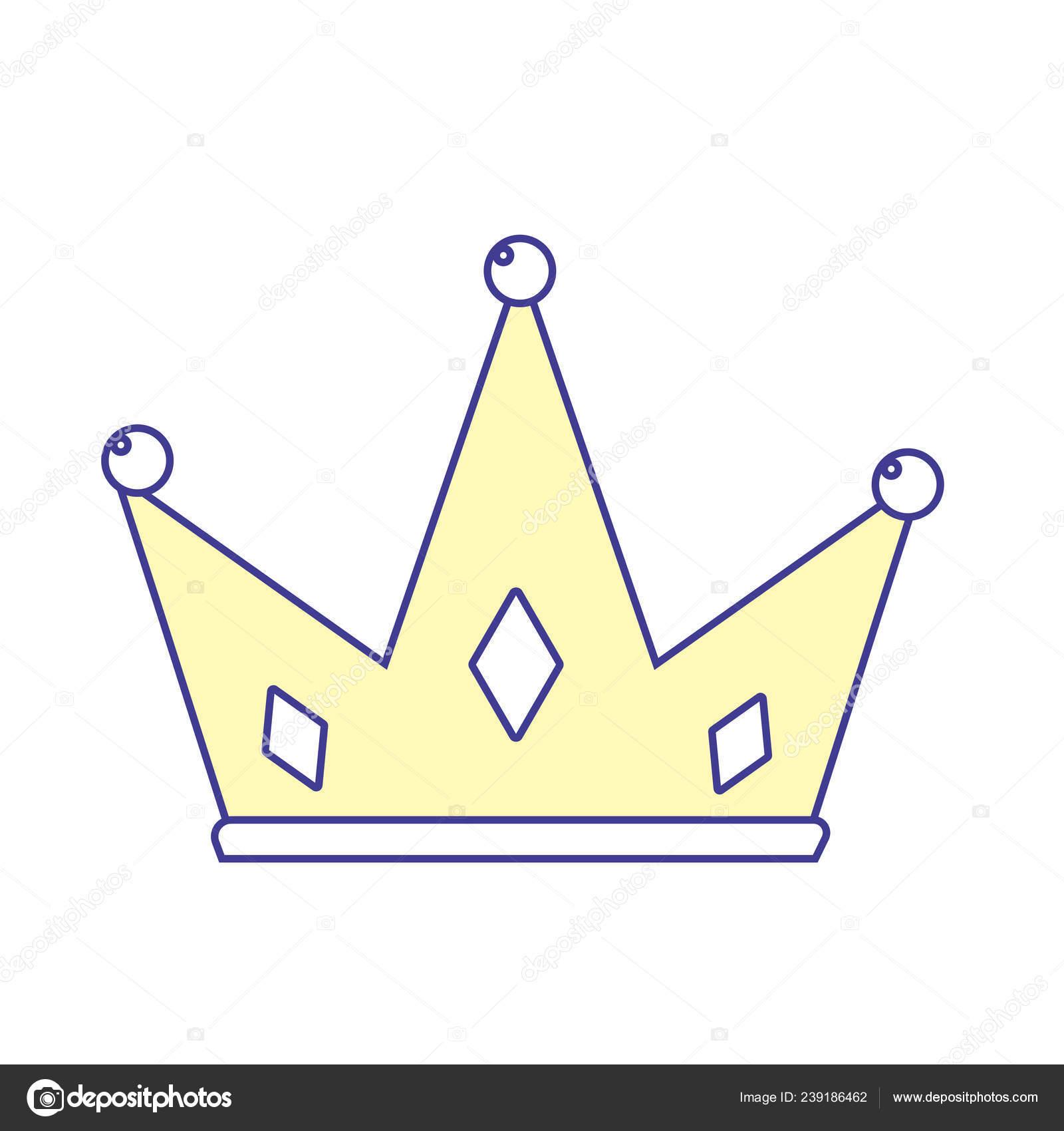 Nice Crown King Glory Pawer Vector Illustration — Stock