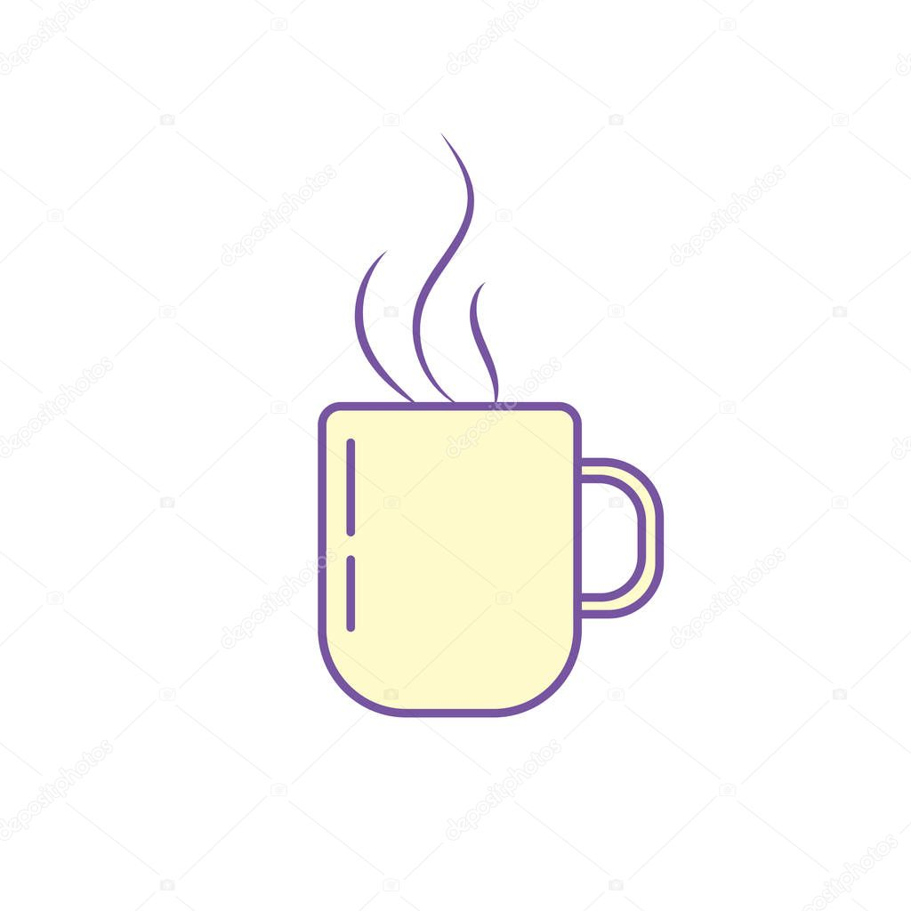 delicious coffee cup to drink vector illustration