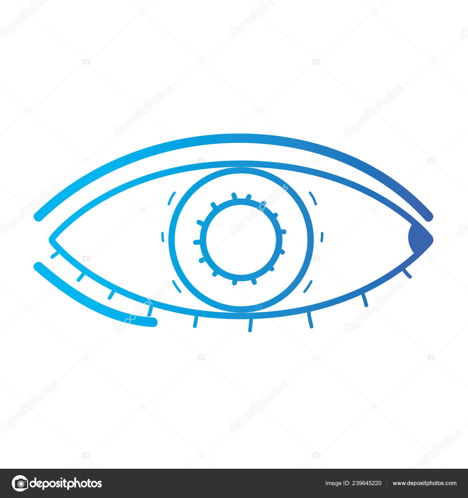 f3f5e5e2522 Line Heathy Eye Vision Optical Care Vector Illustation — Stock Vector