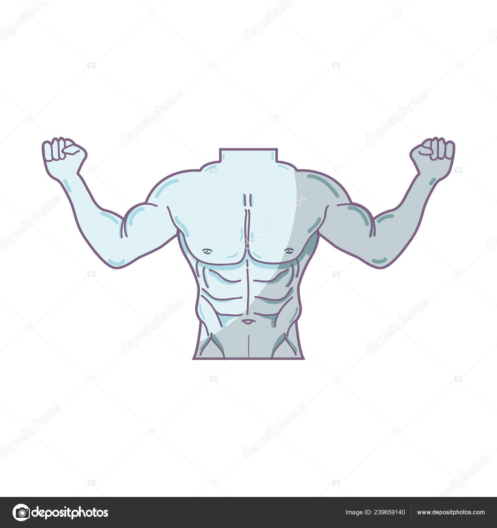 Homem Tons Aptidao Corpo Desenho Ilustracao Vetorial Vetores De