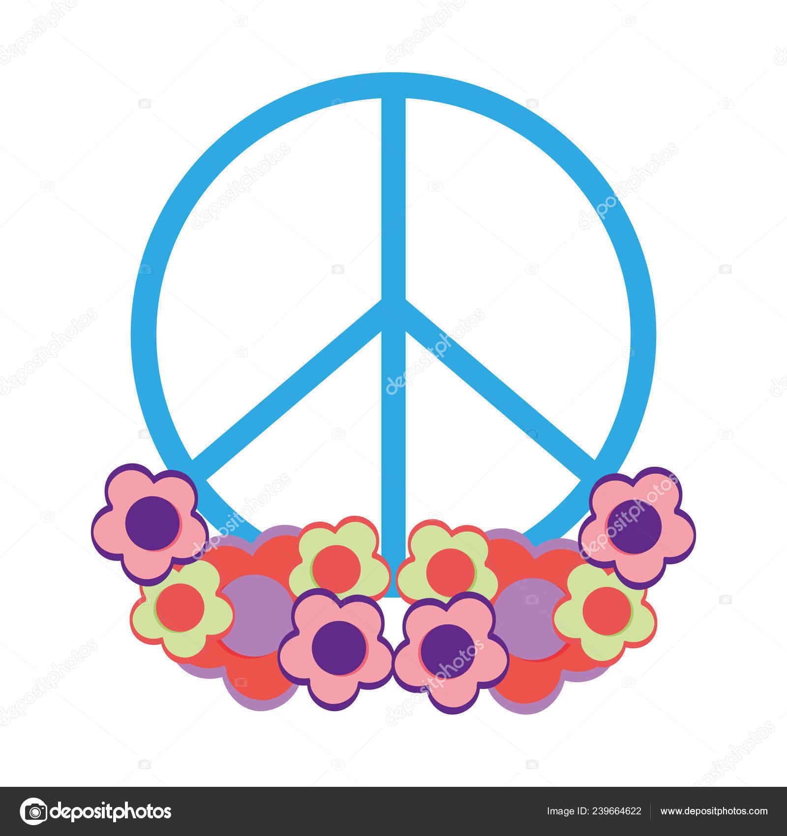 Icone Paz Amor Simbolo Desenho Ilustracao Vetorial Vetores De