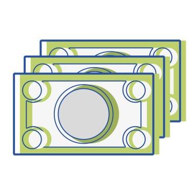 bills cash money to economy business vector illustration