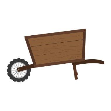 handcart vehicle to cargo transportation design vector illustration