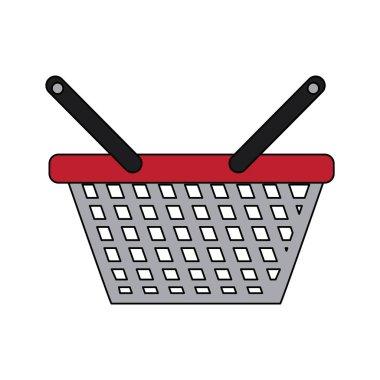 shopping basket icon to commerce market sale. Vector illustration