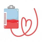 táska vér adományozása sürgősségi transzfúzió vektoros illusztráció