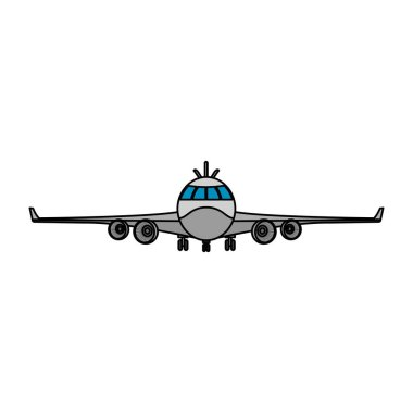 color front airplane vehicle fashion transport vector illustration