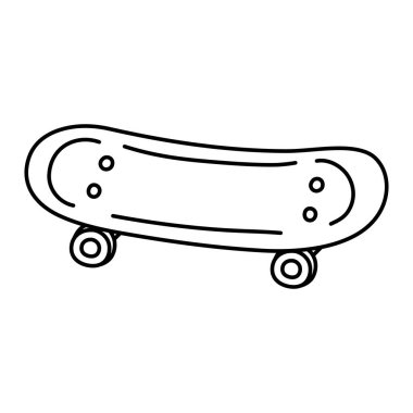 line skateboard object style and extreme sport vector illustration
