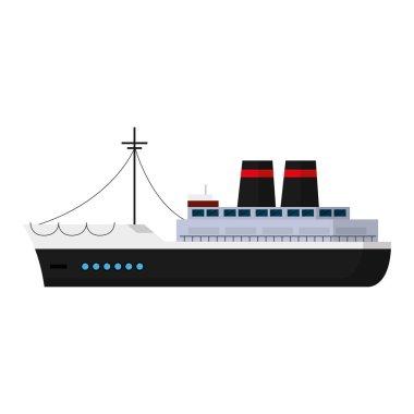 luxury ship marine transport style vector illustration