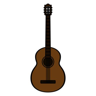 color guitar instrument music art style vector illustration