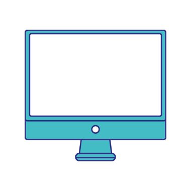 full color electronic computer screen technology icon vector illustration