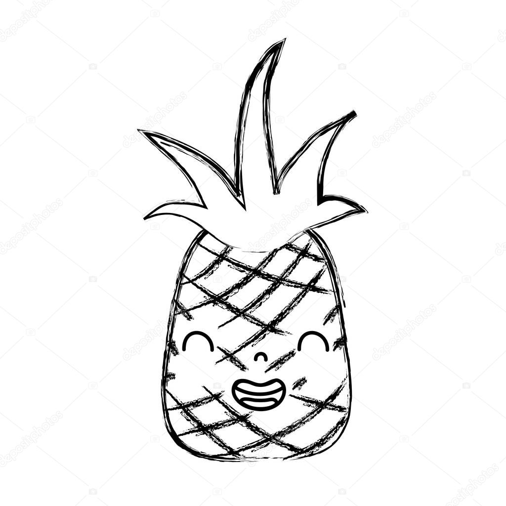 Ananas Kawaii Pineapple And Easy Drawings Www Galleryneed Com