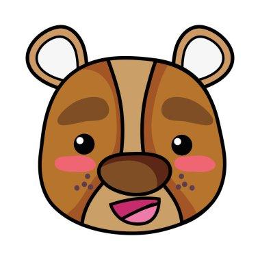 """Картина, постер, плакат, фотообои """"счастливая голова медведя векторная иллюстрация диких животных постеры"""", артикул 244675510"""
