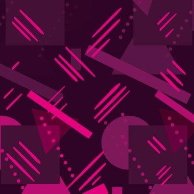 color geometric figures memphis style background vector illustration