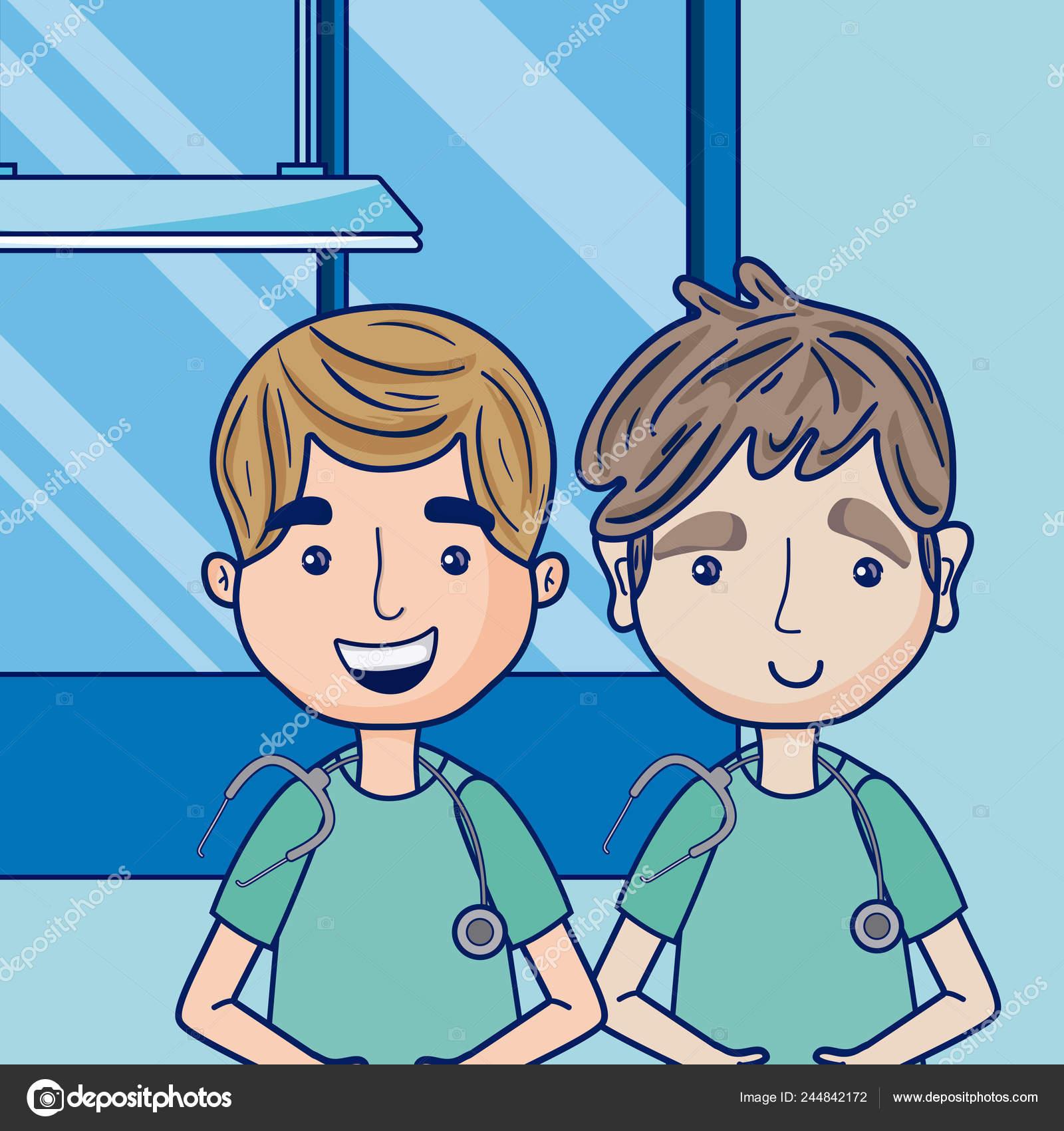 Funny Cartoon Hospital Pics funny doctors cartoons hospital vector illustration graphic