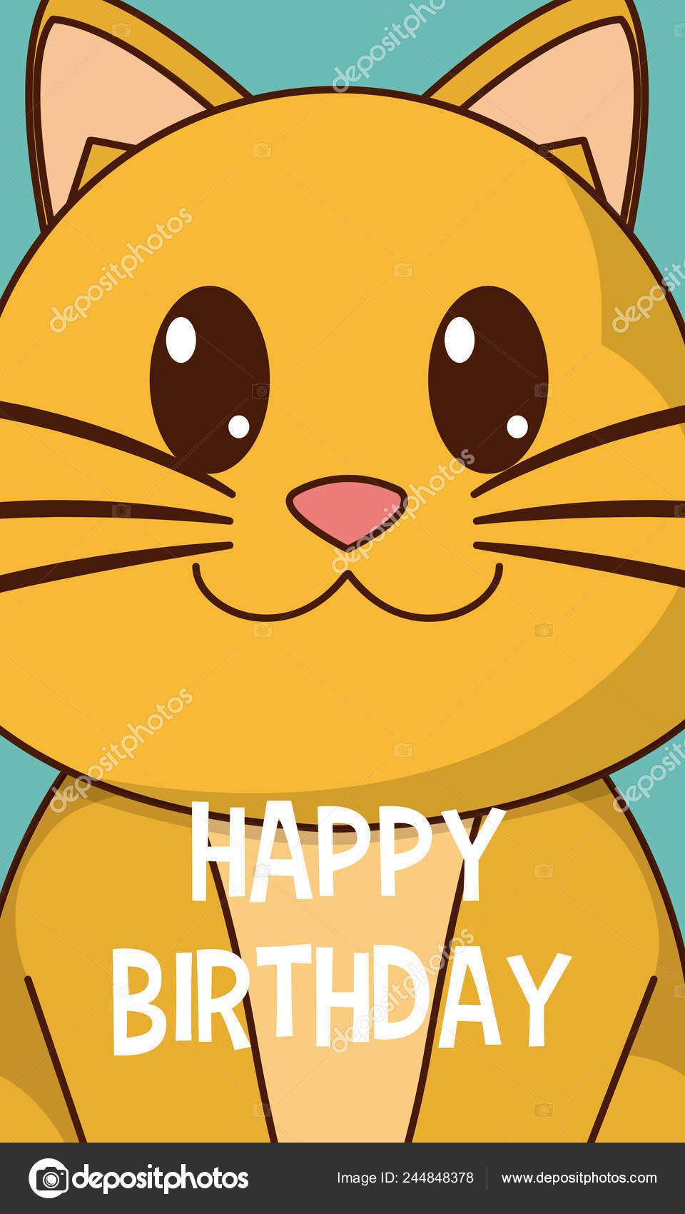 El gato feliz cumpleanos