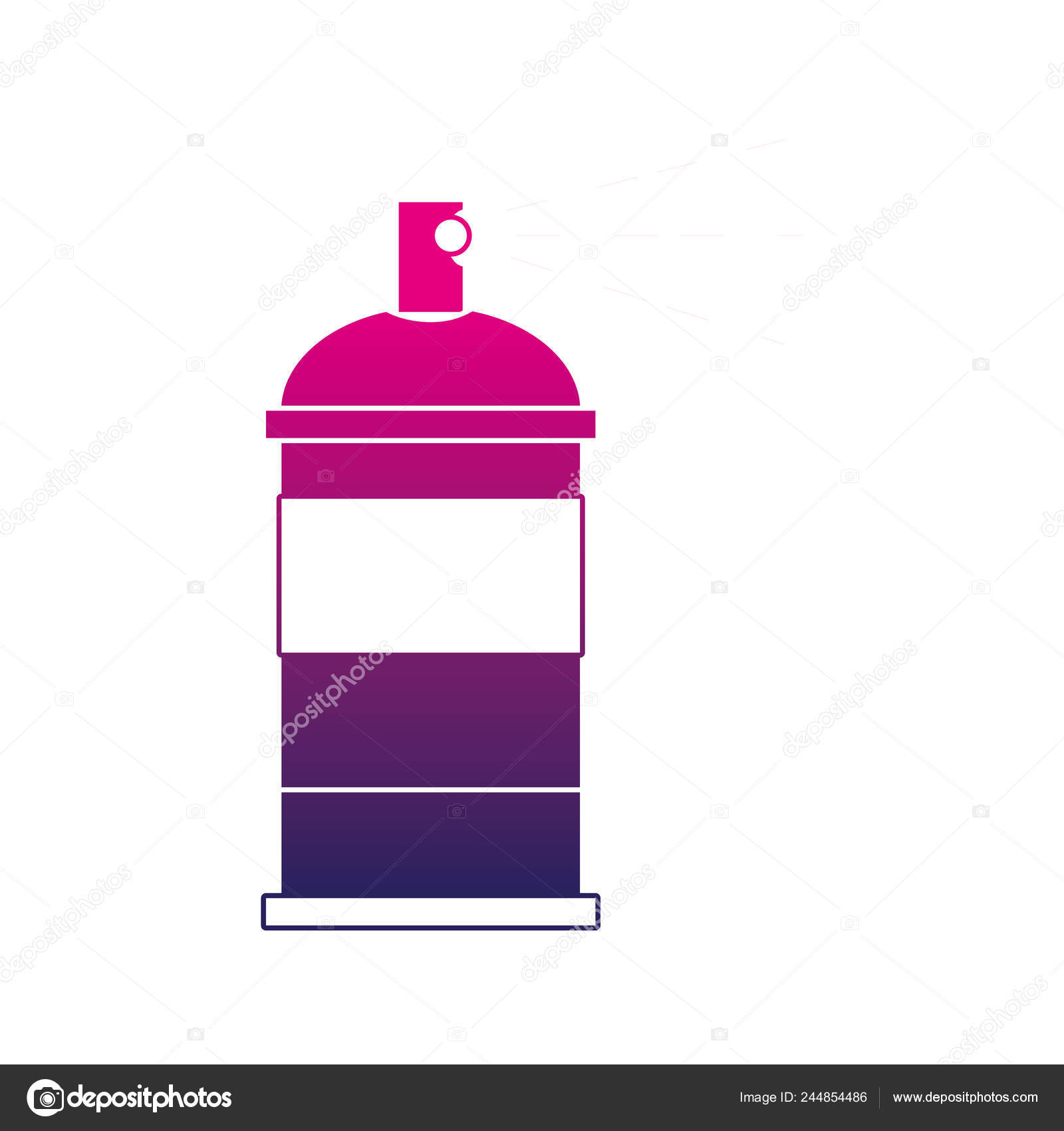 Spray Can Silhouette