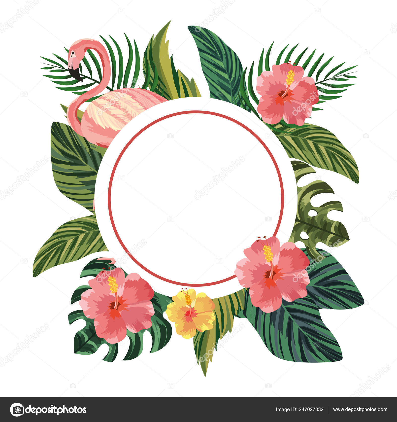 Beautiful tropical flowers cartoon \u2014 Stock Vector © stockgiu