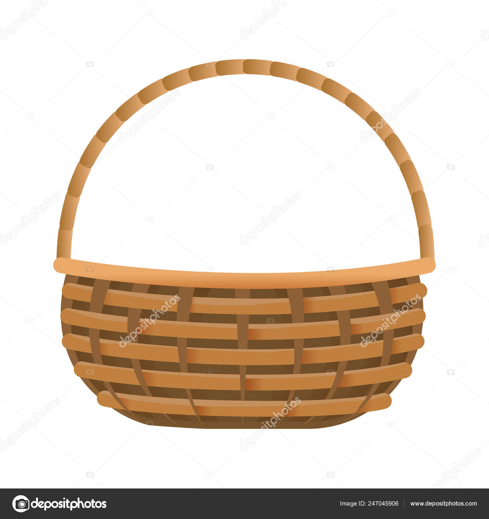 Picnic Basket Cartoon Vector Image By C Stockgiu Vector Stock 247045906